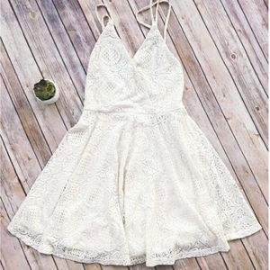 Romeo & Juliet Couture White Lace Slip Dress